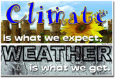 Climate is What We Expect. Weather is What We Get. Mark Twain