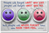 Maya Angelou - people will forget what you said quote - classroom motivational PosterEnvy poster