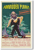 Forbidden Planet - NEW Vintage Reprint Poster