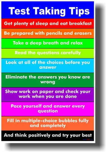 Test Taking Tips #2 - Students School Teachers Classroom Management PosterEnvy Poster