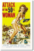 Attack of the 50 Ft. Woman - NEW Vintage Reprint Poster