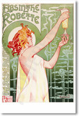 Absinthe Robette - 1895 - NEW Vintage Reprint Poster