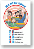 Students Raising Hands - No Risk Zone - Tolerance, Peer Pressure, Acceptance - Classroom Motivational PosterEnvy Poster