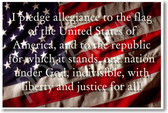Pledge of Allegiance - Patriotic American Flag Classroom PosterEnvy Poster (cm180)