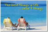 The Best Things In Life Aren't Things - Beach - Classroom Motivational Poster (cm157)