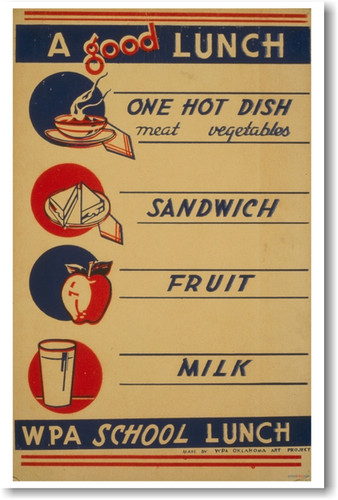 A Good Lunch - WPA School Lunch - Vintage Classroom Poster (cm140)