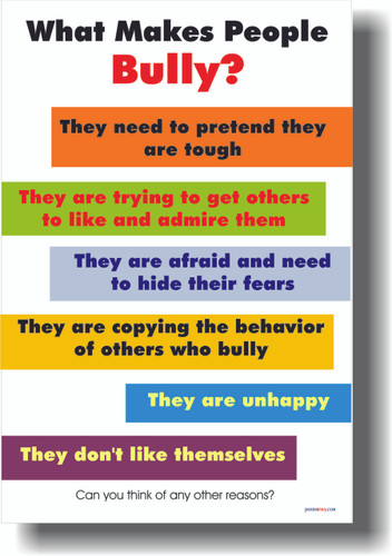 What Makes People Bully? - Classroom Motivational Poster (cm128)