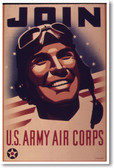Join Army Air Corps - NEW Vintage Reproduction Poster