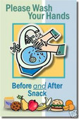 Please Wash Your Hands Before & After Snack - Classroom Health and Safety Poster (cm098)