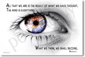 """White Eye - All We Are is the result of what we have thought. The mind is everything. What we think we shall become."""" - Buddha"""