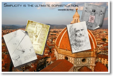 """Simplicity is the ultimate sophistication"" - Leonardo Da Vinci - Classroom Motivational Poster (cm092)"