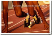 "Starting Line - ""Success is dependent on effort"" - Sophocles - Classroom Motivational Poster (cm086)"