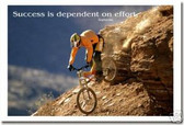 "Mountain Biker - ""Success is dependent on effort"" - Sophocles - Classroom Motivational Poster"