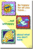 Be Happy For What You Have - Classroom Motivational Poster Print Gift