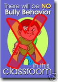 Anti-Bullying No Bully Behavior - Classroom Motivational PosterEnvy Poster