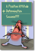 Positive Attitude + Determination = Success!!!! - Classroom Motivational Poster Print Gift