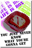 Life is Like a Box of Chocolates - Classroom Motivational Poster Print Gift
