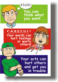 Careful What You Say & Do - Classroom Motivational Poster Print Gift