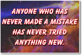 Anyone Who Has Never Made a Mistake - Albert Einstein - Motivational Poster Print Gift