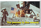 The Journey is the Reward - Motivational Classroom Poster Print Gift