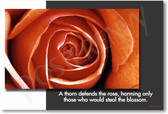 A Thorn Defends the Rose - Classroom Motivational Poster Print Gift