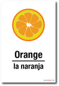 PosterEnvy - La Naranja - Orange In Spanish