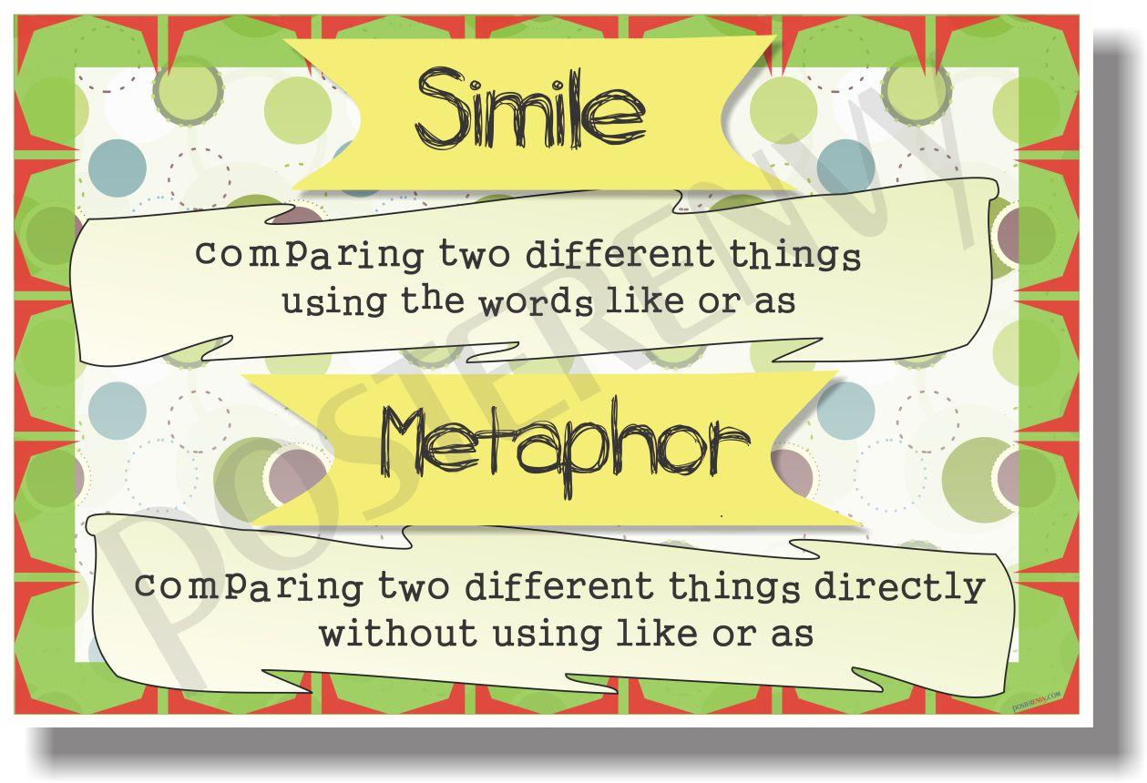 posterenvy simile vs metaphor