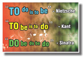 PosterEnvy - Kant Nietzsche Sinatra Sign - NEW Humorous Quote Poster