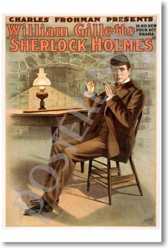 PosterEnvy - Sherlock Holmes - William Gillette - NEW Vintage Movie Poster