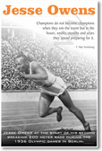 PosterEnvy -  Jesse Owens - NEW Famous Olympian Poster