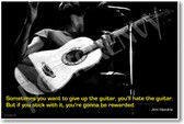 PosterEnvy - Sometimes you want to give up the guitar - Jimi Hendrix