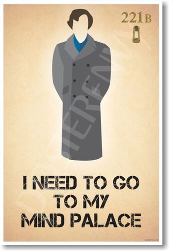 Sherlock Holmes - Mind Palace - 221B Baker Street Poster Print Gift