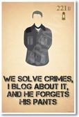 John Watson - We Solve Crimes -  221B Baker Street Poster Print Gift