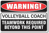 Warning Volleyball Coach Poster Print Gift