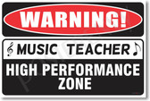 Warning Music Teacher  Poster Print Gift