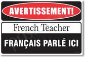 Warning French Grammar Teacher Poster Print Gift