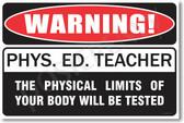 Warning Gym Teacher Poster Print Gift