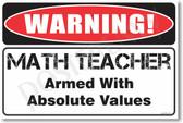 Warning Math Teacher Poster Print Gift