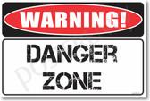 Warning Danger Zone Poster Print Gift
