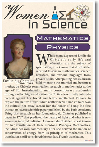 Emile Du Chatelet - Famous Women Poster Print Gift