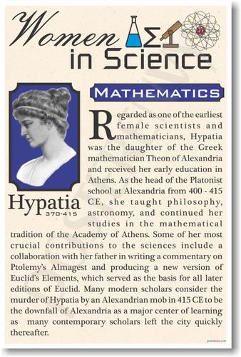 Hypatia - Famous Women Poster Print Gift