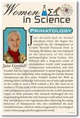 Jane Goodall - Famous Women Poster Print Gift