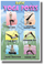 Basic Yoga Poses - Health and Fitness Poster Print Gift