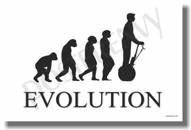 Segway Evolution - White - Poster Print Gift