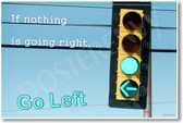 If Nothing Is Going Right - Humor Poster Print Gift