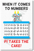 Pi Takes The Cake - Funny Poster Print Gift