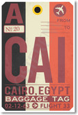 CAI - Cairo - Airport Tag - NEW World Travel Poster (tr494)