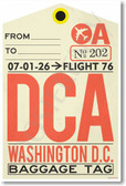 DCA - Washington DC - Airport Tag - NEW World Travel Poster (tr496)