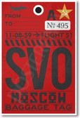SVO - Moscow - Airport Tag - NEW World Travel Poster (tr506)