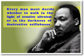 Martin Luther King Jr. Every Man Must Quote Civil Rights Leader PosterEnvy Classroom Motivational Poster
